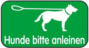 Spielplatzschild, Hunde bitte anleinen, 420 x 231 mm (Ausführung: Spielplatzschild, Hunde bitte anleinen, 420 x 231 mm (Art.Nr.: 14850))