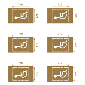 Spritzschablonen für Bodenmarkierung, Satz 4 (Handicap), Inhalt 6 Schablonen (Ausführung: Spritzschablonen für Bodenmarkierung, Satz 4 (Handicap), Inhalt 6 Schablonen (Art.Nr.: 90.3306-04))