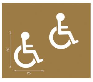 Spritzschablonen für Bodenmarkierung, Satz 6 (Handicap), Inhalt 12 Schablonen (Ausführung: Spritzschablonen für Bodenmarkierung, Satz 6 (Handicap), Inhalt 12 Schablonen (Art.Nr.: 90.3306-06))