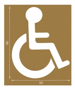 Spritzschablonen für Bodenmarkierung, Satz 7 (Handicap), Inhalt 12 Schablonen (Ausführung: Spritzschablonen für Bodenmarkierung, Satz 7 (Handicap), Inhalt 12 Schablonen (Art.Nr.: 90.3306-07))