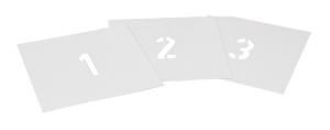 Sprühschablonen-Set für Bodenmarkierung, Ziffern 0 bis 9, Inhalt 10 Schablonen, nach DIN (Zeichenhöhe: 50 mm (Art.Nr.: 35876))