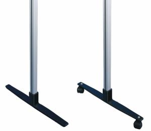Ständer aus Alu zur Freiaufstellung für Schaukästen mit Schiebetür und Orgastar-Tafeln, VPE 2 Stk. (Farbe/Fuß/Menge: eloxiert alu-silberfarbig<br>Standard-Fuß / VPE 2 Stk. (Art.Nr.: 103000368))