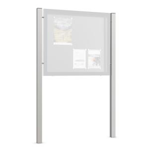 Ständer aus Aluminium, für Schaukästen Modelle ES und GG, VPE 2 Stk. (für/Befestigung/Maße (LxBxT)/Menge: für Modell ES /  <b>zum Einbetonieren</b><br>2400 x 76 x 62 mm / VPE 2 Stk. (Art.Nr.: 39754))