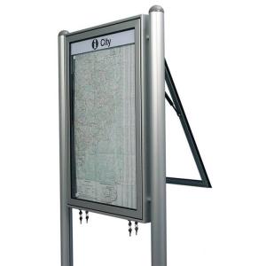 Ständer aus Aluminium, zum Einbetonieren (für Modelle TN, TR), VPE 2 Stk. (Modell/Rohrmaße/Kappe/Farbe/Menge: Rechteckrohr / 80 x 40 mm / Flachkappe<br> <b>eloxiert alu-silberfarbig</b> / VPE 2 Stk. (Art.Nr.: 103000355))