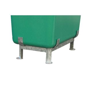 Stahlfußgestell für Rechteck- und Streugutbehälter -CEMO- (Für Behältergröße: 100 Liter (Art.Nr.: 14049))