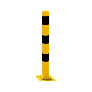 Stahlrohrpoller / Rammschutzpoller -Bollard-, elastisch, Ø 152 mm, zum Aufdübeln, wahlweise in gelb (Farbe: ohne Farbe (Art.Nr.: 40153np))