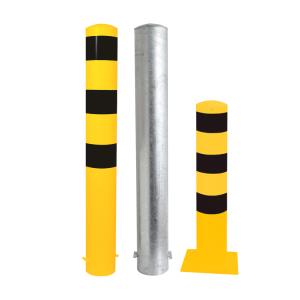 Stahlrohrpoller / Rammschutzpoller -Bollard- Ø 152 mm, feststehend, wahlweise gelb / schwarz