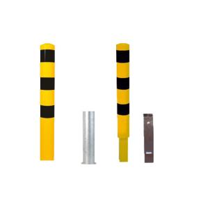 Stahlrohrpoller / Rammschutzpoller -Bollard- Ø 152 mm, herausnehmbar, wahlweise gelb / schwarz