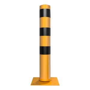Stahlrohrpoller / Rammschutzpoller -Bollard- Ø 152 mm, neigbar, feststehend, wahlweise gelb / schwarz
