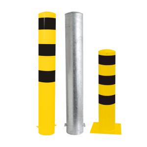 Stahlrohrpoller / Rammschutzpoller -Bollard- Ø 193 mm, feststehend, wahlweise gelb / schwarz