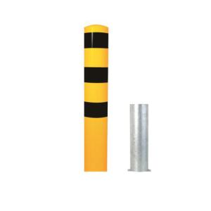 Stahlrohrpoller / Rammschutzpoller -Bollard- Ø 193mm, herausnehmbar, wahlweise in gelb / schwarz