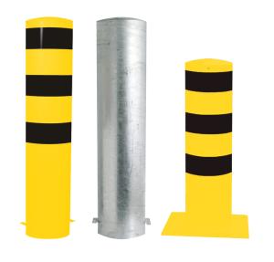 Stahlrohrpoller / Rammschutzpoller -Bollard- Ø 273 mm, feststehend, wahlweise gelb / schwarz