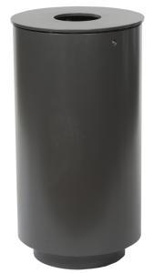 Stand-Abfallbehälter -State Iowa- 50 Liter aus Stahl, zum Aufschrauben, schwere Ausführung