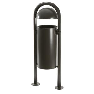 Stand-Abfallbehälter -State Ottio- 40 Liter aus Stahl, ungelocht oder gelocht, optionaler Ascher