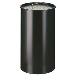 Standascher -P-Bins 54- aus Stahl, mit Einsatz und Kippensieb (Farbe: aluminium (Art.Nr.: 17821))