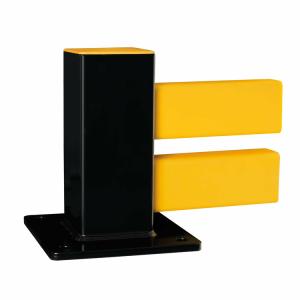 Standpfosten für Bodenbarriere -Hybrid-, aus Stahl, Höhe 255 mm, versch. Ausführungen (Modell: Anfangs-/Endpfosten (Art.Nr.: 40472))