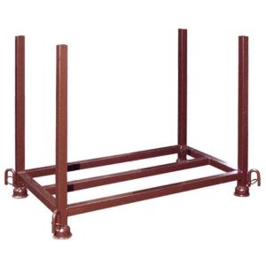 Stapelpalette für Fußplatten, 1,30 x 0,63 x 0,90 m, lackiert oder verzinkt (Ausführung: lackiert (Art.Nr.: 50380))