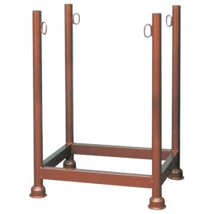 Stapelpalette für Gerüstböcke und Schaltafeln, 0,68 x 0,52 x 1,00 m, lackiert oder verzinkt (Oberfläche: lackiert (Art.Nr.: 50141))