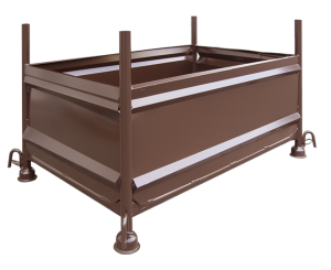 Stapelvollwandbehälter 1,30 x 0,70 x 0,50 m, lackiert oder verzinkt (Oberfläche: lackiert (Art.Nr.: 50321))