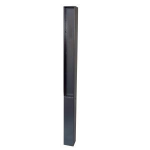 Stilpoller 70 x 70 mm mit Flachstahl-Aufsatz, ortsfest oder herausnehmbar