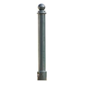 Stilpoller -Eris- Ø 80 mm aus Aluguss, zum Einbetonieren, feststehend oder herausnehmbar mit 3p