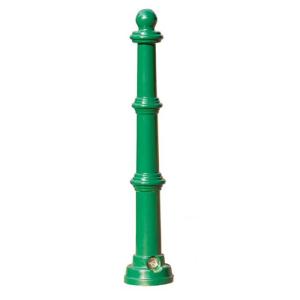 Stilpoller -Ladon- Ø 70 mm aus Aluguss, zum Einbetonieren, feststehend oder herausnehmbar mit 3p