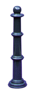 Stilpoller -Mini- aus Aluminium, ortsfest zum Einbetonieren