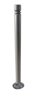 Stilpoller -Trend- Ø 76 mm aus Stahl, zum Aufdübeln, allseitig neigbar (Farbe: RAL 3004 purpurrot (Art.Nr.: 22577))