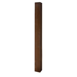 Stilpoller aus Cortenstahl 80 x 80 mm mit Flachkopf