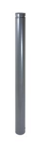 Stilpoller Ø 102 mm mit Alukopf und Ziernut