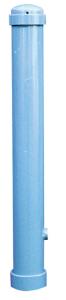 Stilpoller Ø 108 mm aus Stahl, mit Halbkugelstahlkappe, Höhe über Flur 950 mm