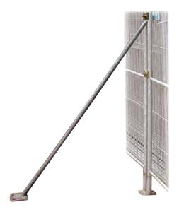 Stützstrebe für Bauzäune mit 2,00 m Höhe (Ausführung: ohne Schelle, ohne Erdnagel (Art.Nr.: 3b154))
