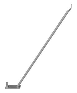 Stützstrebe für Bauzäune mit 2,00 m Höhe, zur Fixierung unter Bauzaunfüßen (Ausführung: ohne Schelle, ohne Erdnagel (Art.Nr.: 3b1542))