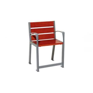 Stuhl -Nature- speziell für Senioren, aus Stahl und Eichenholz, Lasur Eiche hell oder Mahagoni