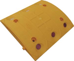 Temposchwelle <,20 km / h aus PP mit Stecksystem, Höhe 40 mm, Top Qualität (Modell/Breite: Endstück,gelb/100mm (Art.Nr.: 10012))