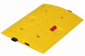Temposchwelle <,30 km / h aus PP, kautschukummantelt mit Stecksystem, H 40 mm, stabil und flexibel (Modell/Breite: Endstück,gelb/200mm (Art.Nr.: 10016))