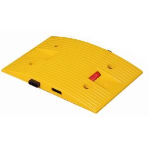 Temposchwelle <,40 km / h aus PP, kautschukummantelt mit Stecksystem, H 45 mm, stabil und flexibel (Modell/Breite: Endstück,gelb/250mm (Art.Nr.: 10167))
