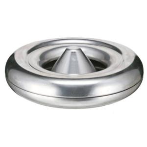 Tischascher -P-Bins 52-, aus Aluminium, selbstlöschend, VPE 5 Stk. (Modell/Maße (Ø x Höhe)/Menge:  <b>mit runder Kalotte</b> / 120x60mm<br>VPE 5 Stk. (Art.Nr.: 17807))