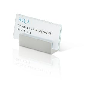 Tischaufsteller -Clear- rahmenlos aus Sicherheitsglas (Maße (BxH): 105 x 220 mm (Art.Nr.: iv3398))