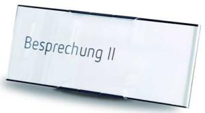 Tischaufsteller -MessengerX- aus Aluminium, 151 x 67 mm (Ausführung: Tischaufsteller -MessengerX- aus Aluminium, 151 x 67 mm (Art.Nr.: mo2070))
