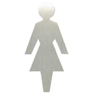 Toilettenfiguren -Unitex P-, aus Edelstahl, stilisiert (Motiv: Damen (Art.Nr.: 20257))