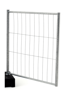 Torelement Bauzaun -Basic Niedrig-, Höhe 1,20 m, MW 300 / 100, Standrohre Ø 40 mm (Ausführung: Torelement Bauzaun -Basic Niedrig-, Höhe 1,20 m, MW 300/100, Standrohre Ø 40 mm (Art.Nr.: 3b1212))