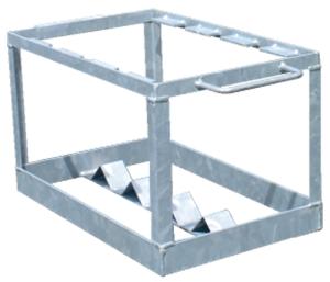 Transport- und Lagerbox für bis zu 5 Faltleitkegel, aus Stahl (Ausführung: Transport- und Lagerbox für bis zu 5 Faltleitkegel, aus Stahl (Art.Nr.: 34015))
