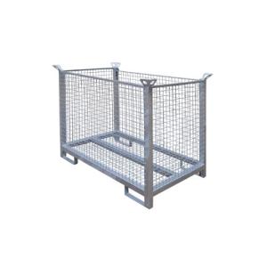Transportbox für bis zu 35 Bauzaunfüße, aus Stahl (Ausführung: Transportbox für bis zu 35 Bauzaunfüße, aus Stahl (Art.Nr.: 3b231))