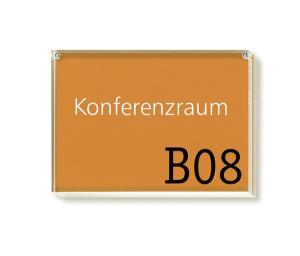 Türschild -Aura- aus Acrylglas, mit Magnetverschluss und Klebestreifen (Maße (BxH): 105 x 74 mm (Art.Nr.: au1100))