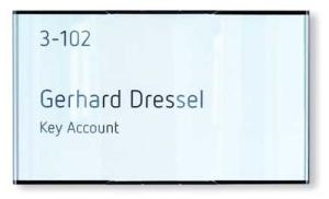 Türschild -MessengerX- aus Aluminium (Maße (BxH): 157 x 93 mm (Art.Nr.: mo2050))