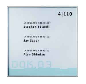 Türschild -New Age- 150 x 150 x 6 mm (Modell: Standard, nicht abschließbar (Art.Nr.: na5006))
