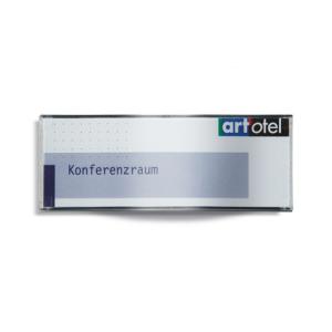 Türschild -Ocean- aus Kunststoff mit Acrylglasscheibe (Format/Maße (BxHxT):  <b>1/2 A6</b>/152x58x16mm (Art.Nr.: oc1010))