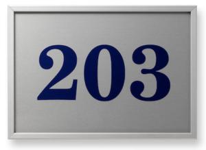 Türschild -Unitex FL- (Modell/Maße (B x H): Türschild/155x110mm (Art.Nr.: 34036))