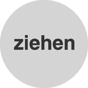 Türschild Ziehen, einseitig (Maße Ø : 60 mm (Art.Nr.: 28.5611))